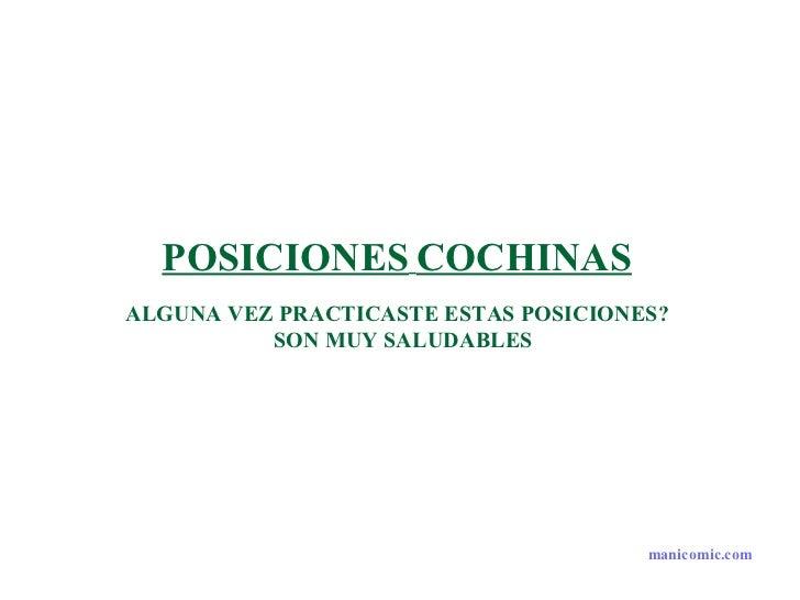 POSICIONES   COCHINAS   ALGUNA VEZ PRACTICASTE ESTAS POSICIONES?  SON MUY SALUDABLES manicomic.com