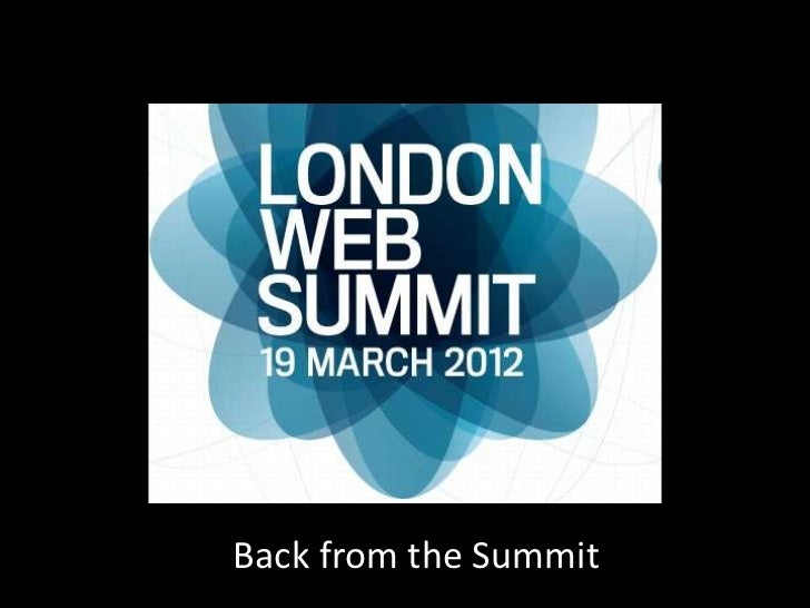 Post web summit