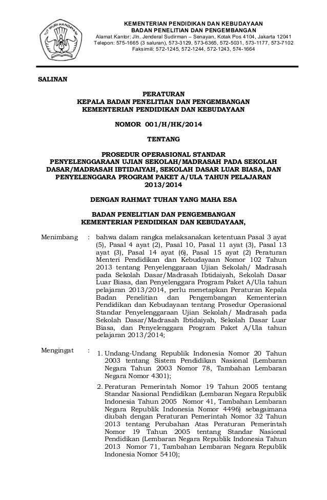 KEMENTERIAN PENDIDIKAN DAN KEBUDAYAAN BADAN PENELITIAN DAN PENGEMBANGAN Alamat Kantor: Jln. Jenderal Sudirman – Senayan, K...