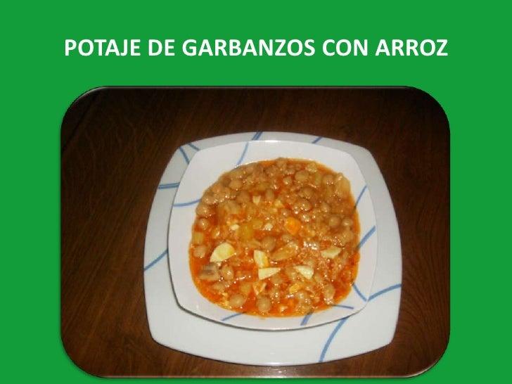 Potaje de garbanzos con arroz
