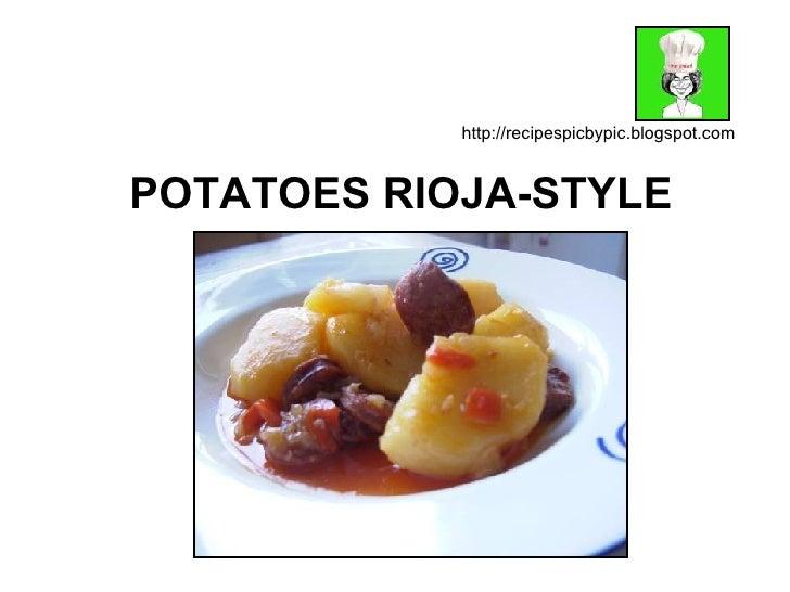 POTATOES RIOJA-STYLE http://recipespicbypic.blogspot.com