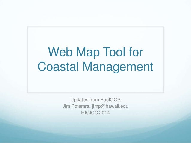 GIS Expo 2014: Web Map Tool for Coastal Management