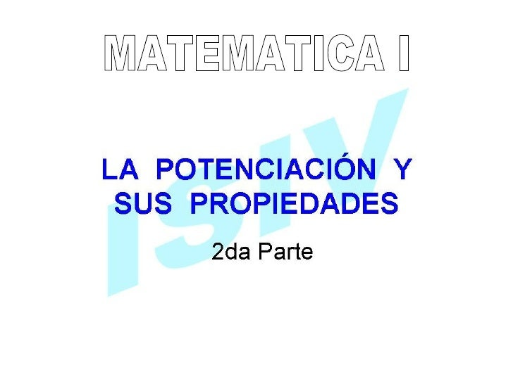 MATEMATICA I