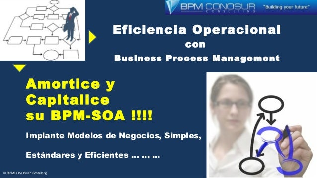 Eficiencia Operacional con Business Process Management Amortice y Capitalice su BPM-SOA !!!! Implante Modelos de Negocios,...