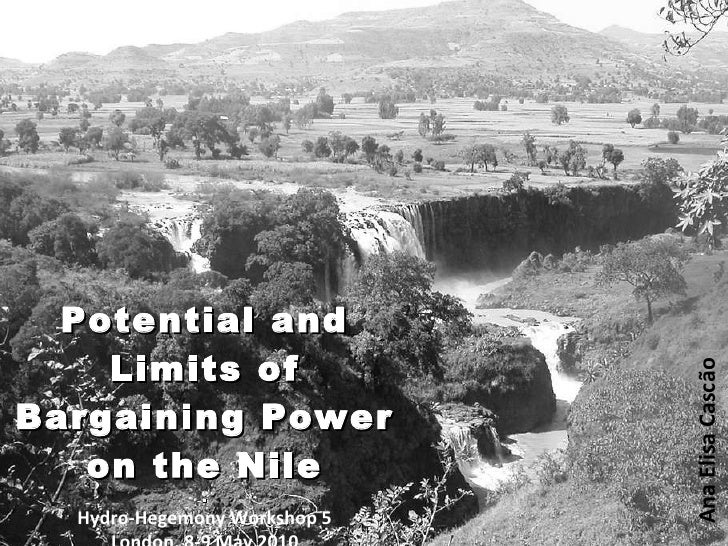 Potential and limits of bargaining power on the nile