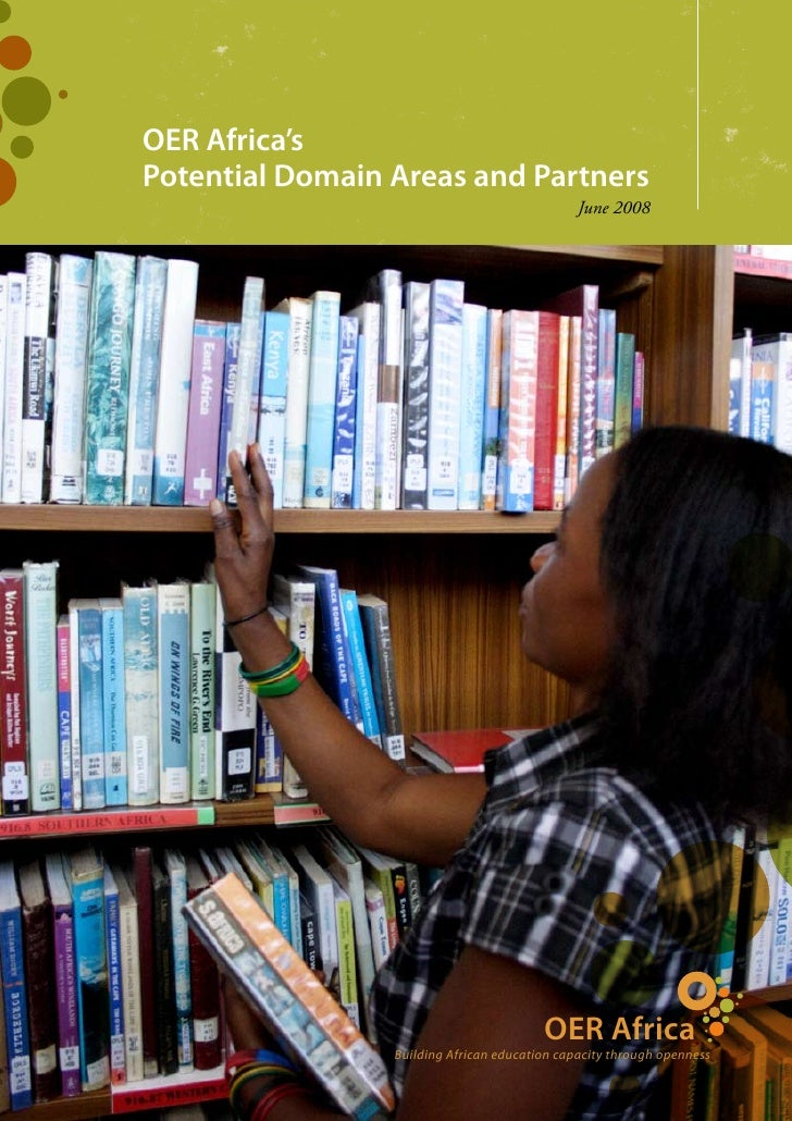 OER Africa'sPotential Domain Areas and Partners                                               June 2008                   ...