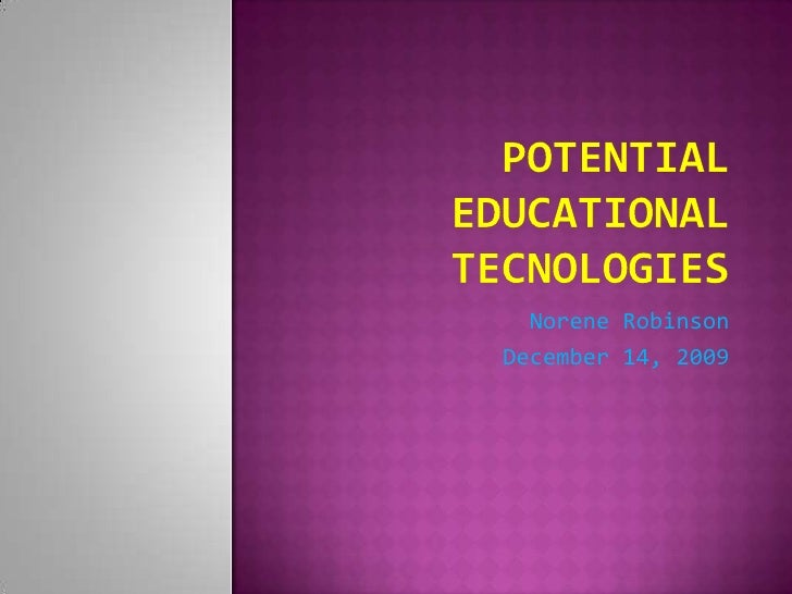 Potential Emerging Technology PowerPoint
