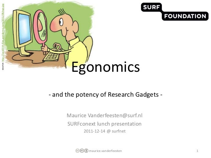 Egonomics - and the potency of Research Gadgets