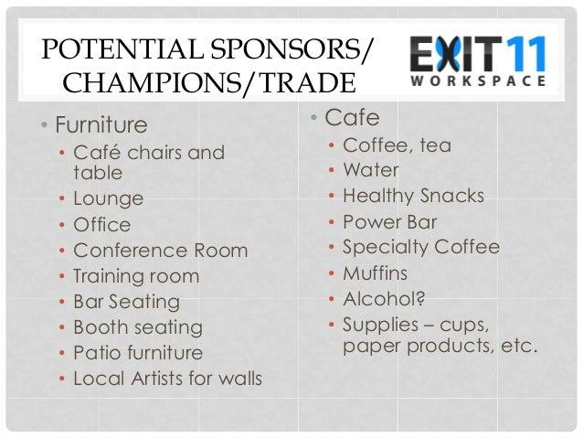 Exit 11 Workspace Needs List