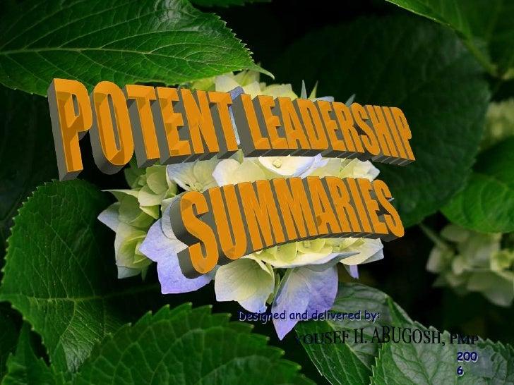 Potent Leadership Summary