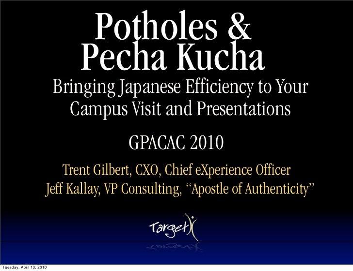 Potholes Pecha Kucha GPACAC