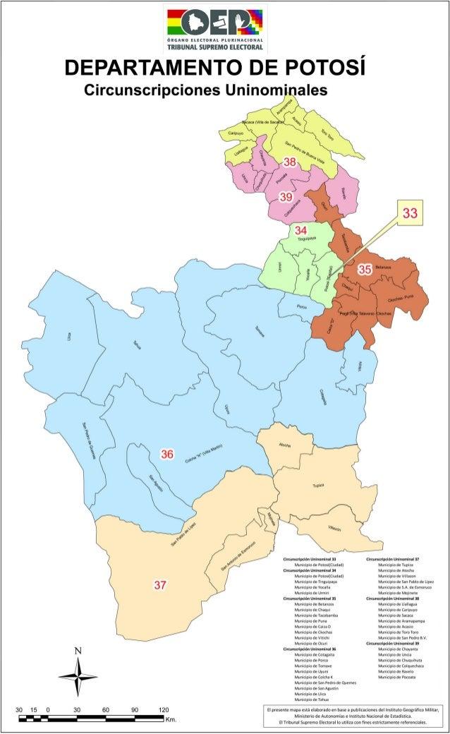 Potosi mapa electoral