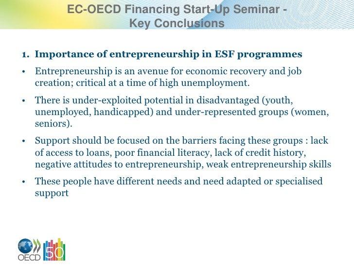 EC-OECD financing start-up seminar 27-29 June2012 (Trento, Italy) - Key conclusions by Jonathan Potter, Senior Economist, OECD LEED Programme