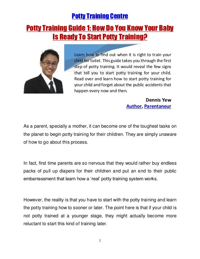 Potty Training Centre  Potty Training Guide 1: How Do You Know Your Baby Is Ready To Start Potty Training? Learn how to fi...