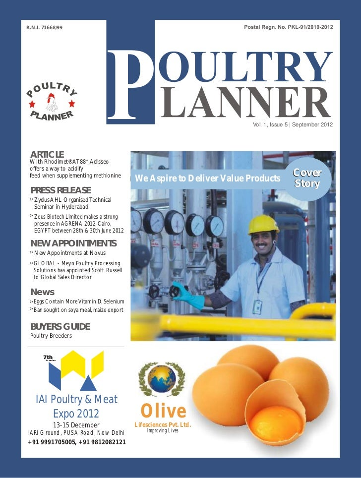Poultry planner
