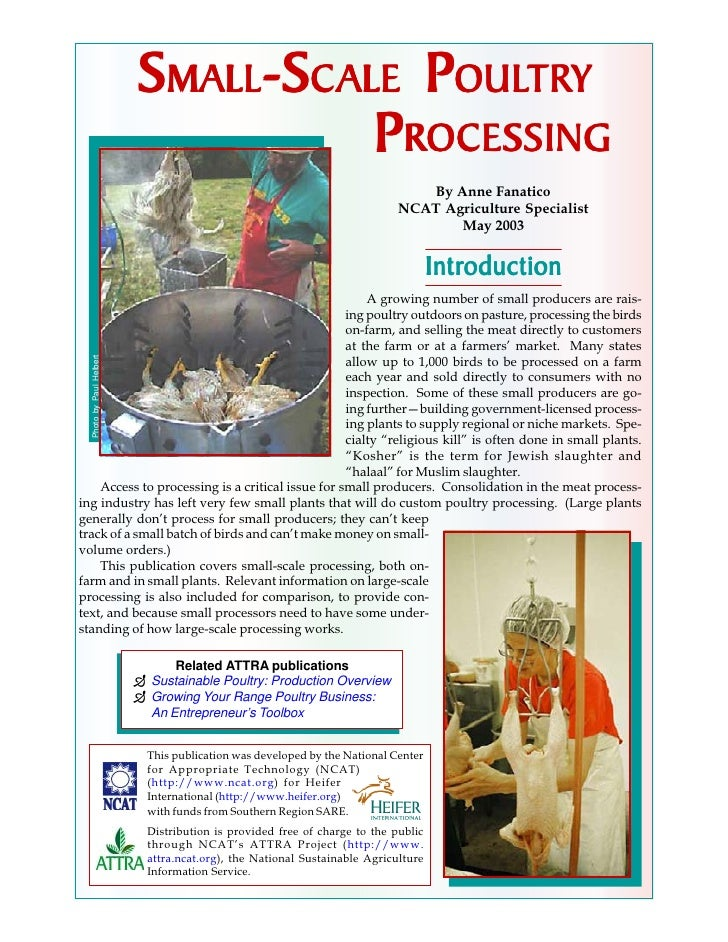 Small-Scale Poultry Processing