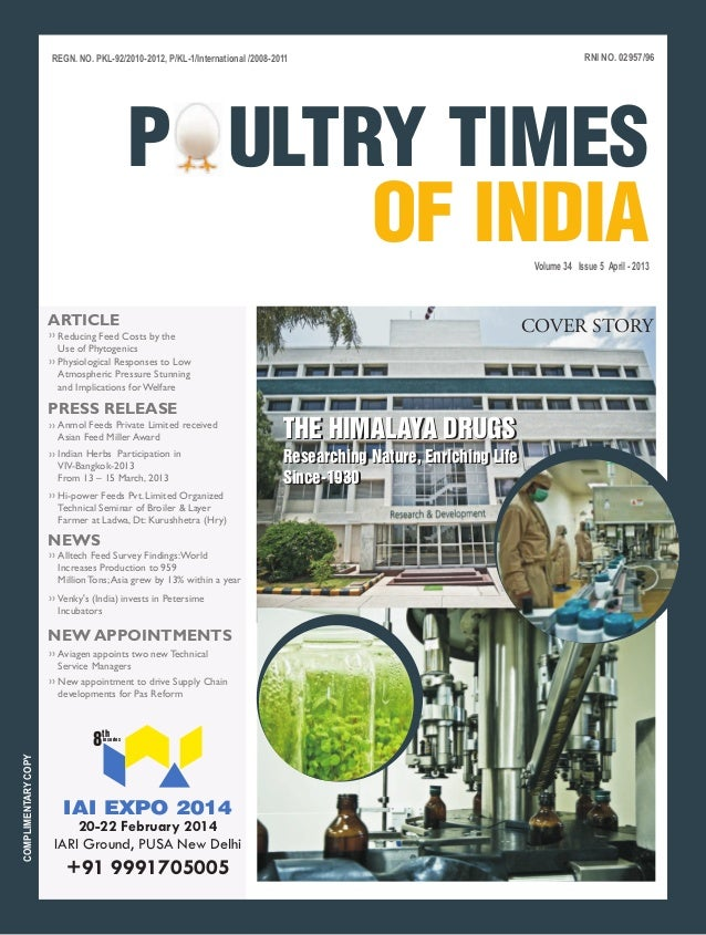 Poultry times of india april 2013