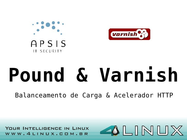 Pound & Varnish Balanceamento de Carga & Acelerador HTTP                                                1