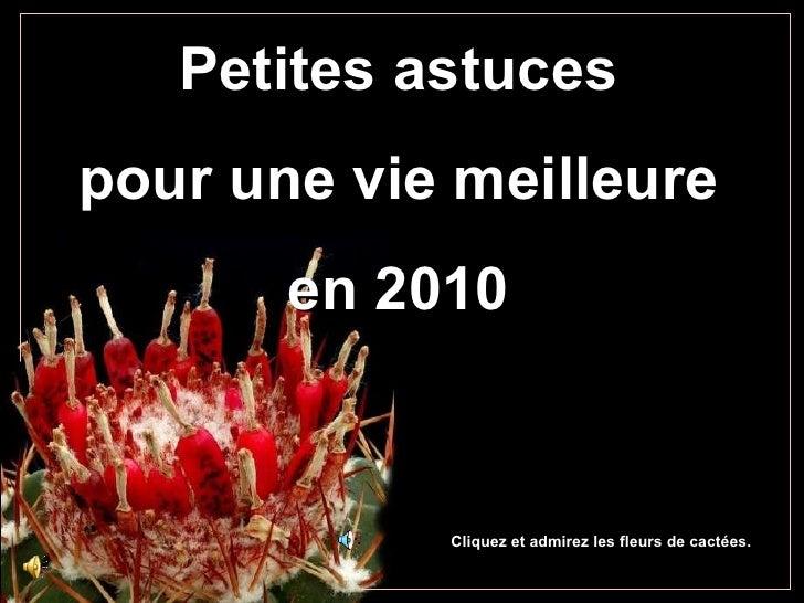 Petites astuces pour une vie meilleure en 2010 Cliquez et admirez les fleurs de cactées.