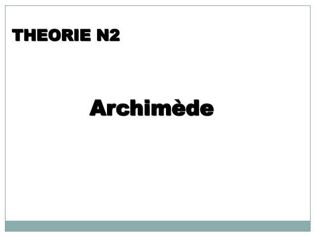 Archimède THEORIE N2