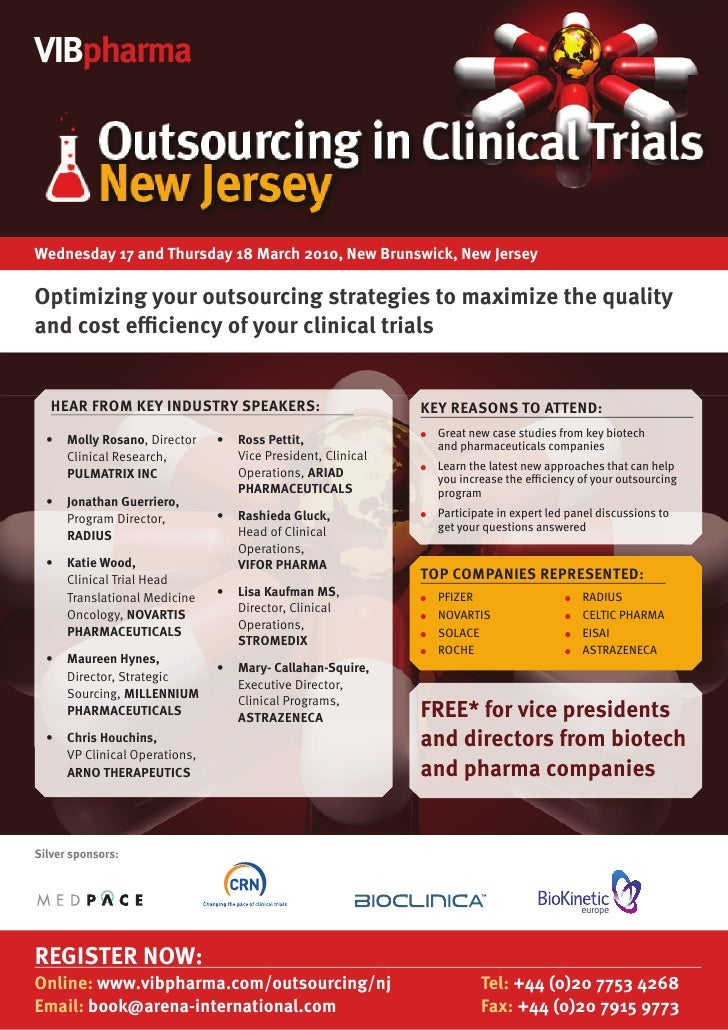Outsourcing in Clinical Trials New Jersey 2010