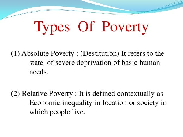 The Causes and Facts about Poverty