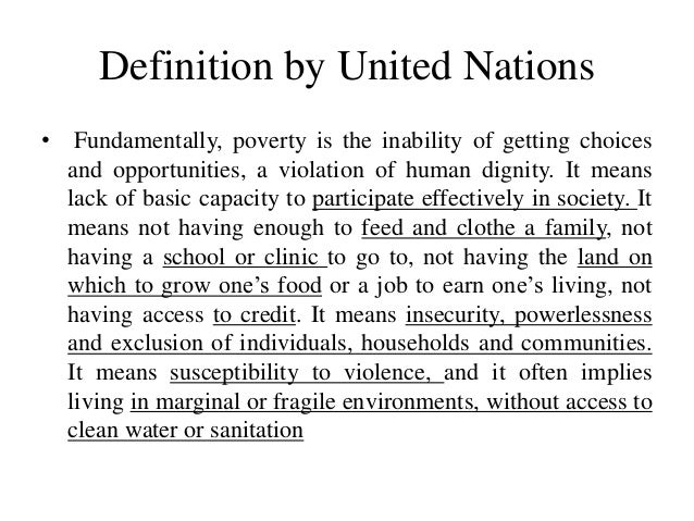 Essay on causes of poverty