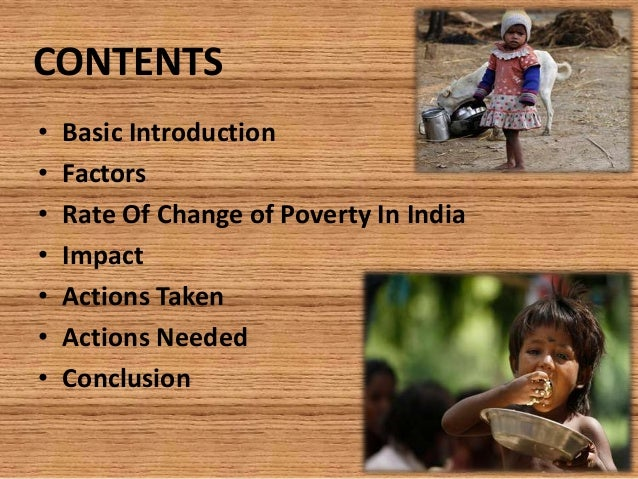 Conclusion for poverty?