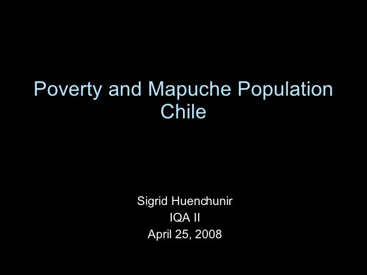 Poverty And Mapuche Population