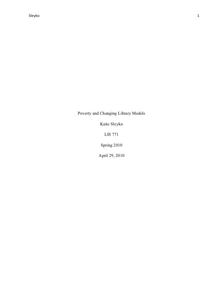 Poverty and changing library models