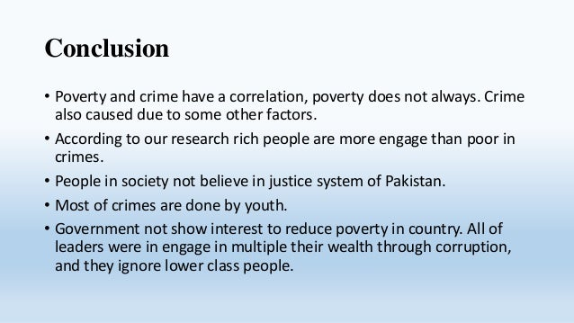 poverty the main cause of crime Violence is a symptom of poverty, not a cause his plans to address violent crime and poverty which is another of the main forces that drives poverty.