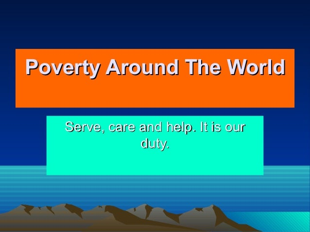 essay about poverty around the world
