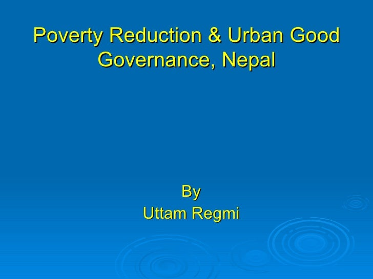 Poverty Reduction And Good Governance, Nepal