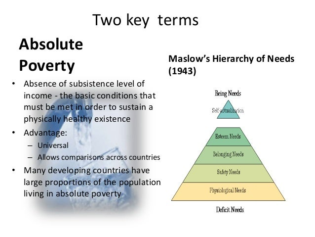 absolute poverty what society is doing Chosen, poverty measures can still be either absolute or rela- tive the indicator  is  who is losing, and how the nation is doing in fighting poverty this annual.