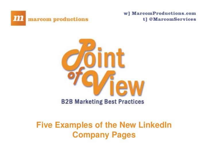 Five Examples of the New LinkedIn Company Pages