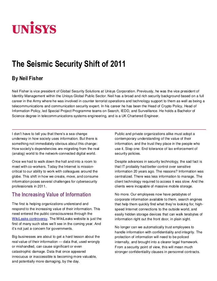 The Seismic Security Shift of 2011