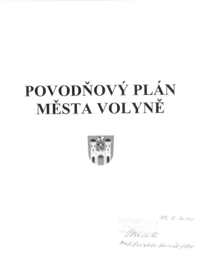 Povodňový plán města Volyně