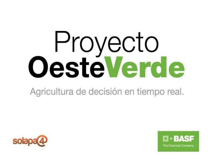 OBJETIVO GENERAL  El proyecto busca llegar al productor con soluciones a medidapara hacer más eficiente el proceso de toma...