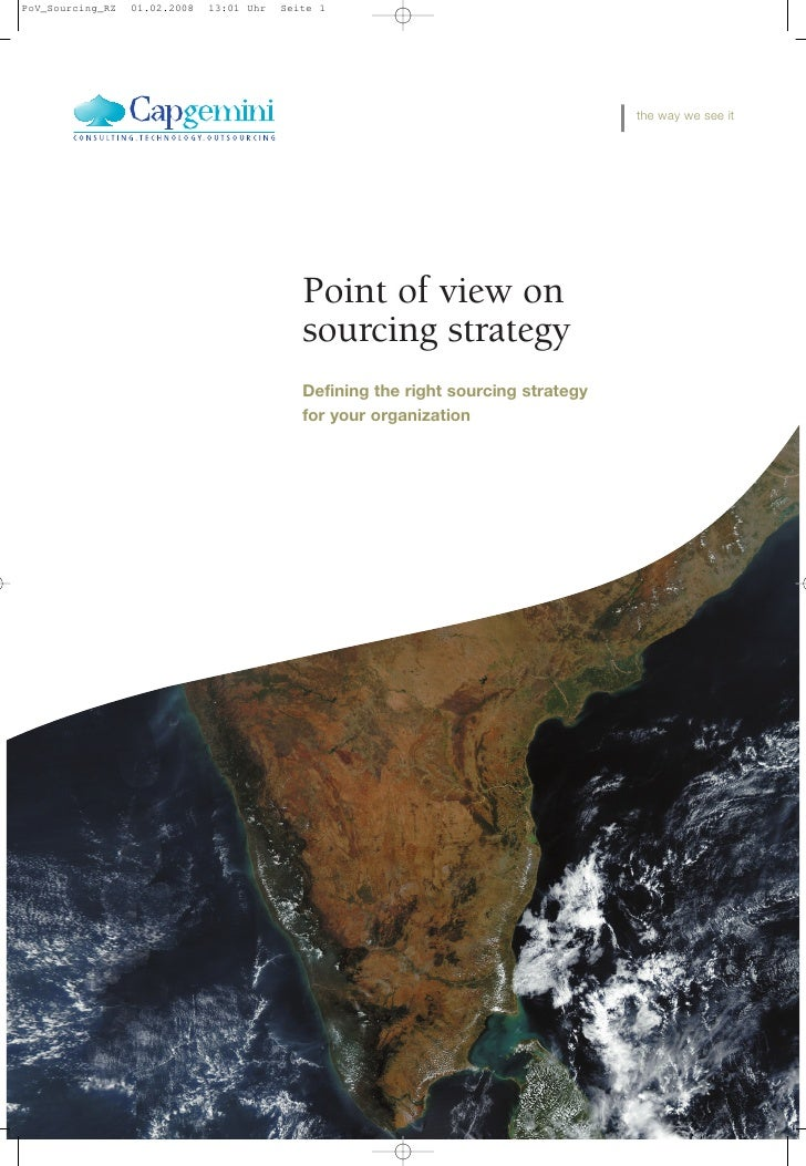 Point of View on Sourcing Strategies