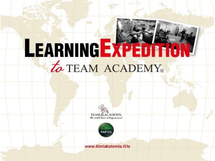 Tiimiakatemia Learning Expedition presentation