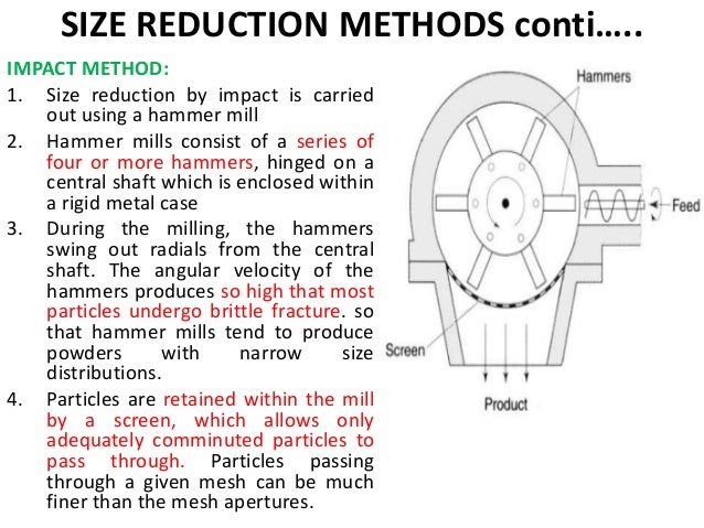size reduction and screening