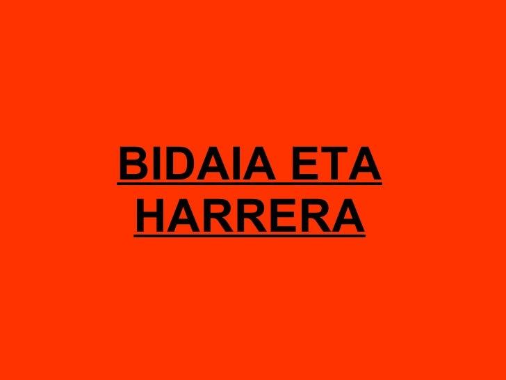 BIDAIA ETA HARRERA