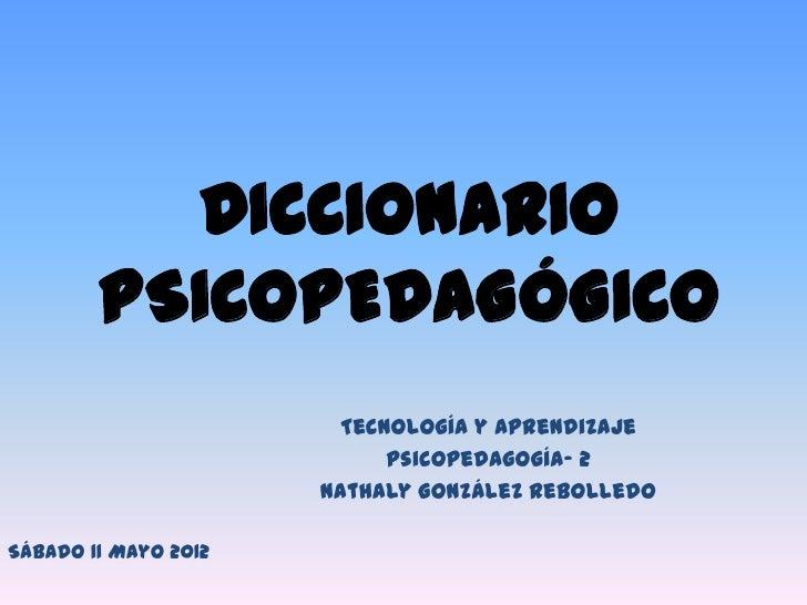diccionario psicopedagogico