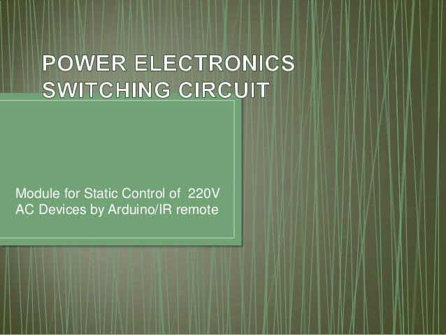 Module for Static Control of 220V AC Devices by Arduino/IR remote