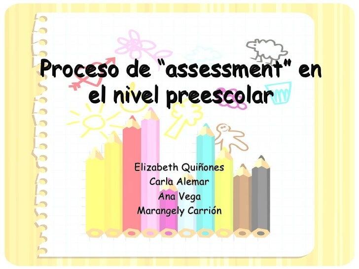 Assessment en Preescolar