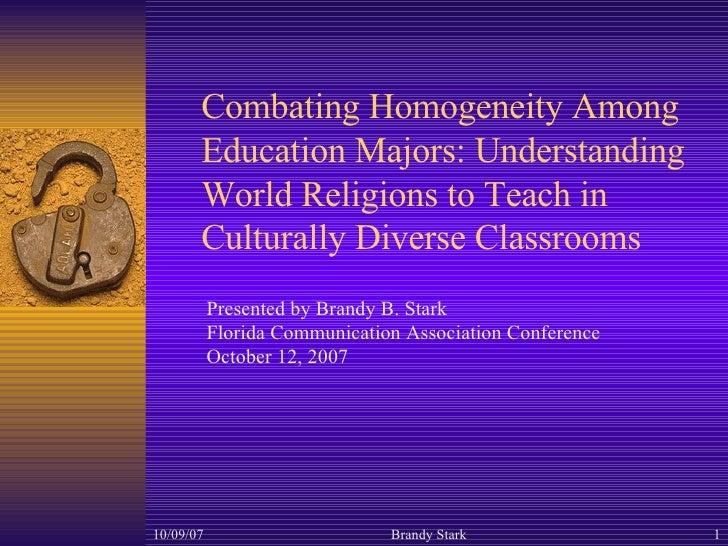 Power Point Combating Homogeneity Among Education Majors