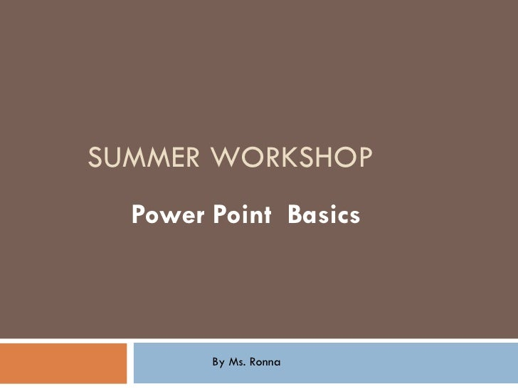 Powerpoint in the Classroom For Teachers