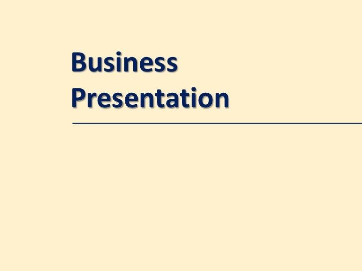 BusinessPresentation