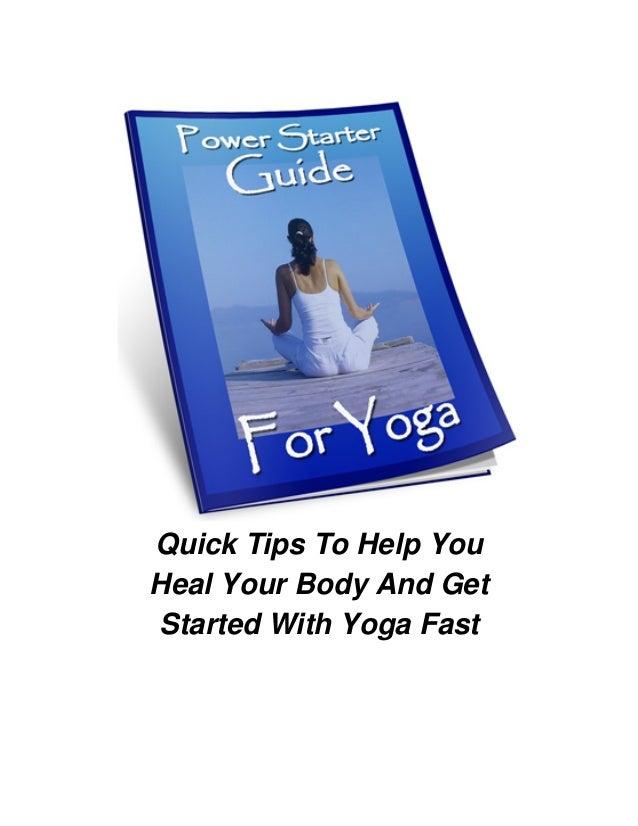 Power starter guide for yoga