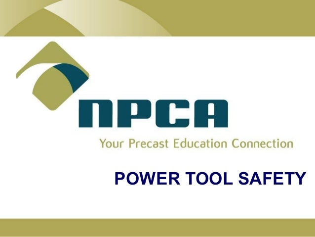 Power tool-safety